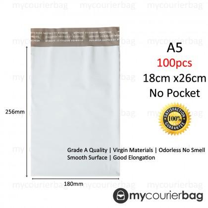 A5 Courier Bag Polymailer Flyer No Pocket (100pcs/pkt)