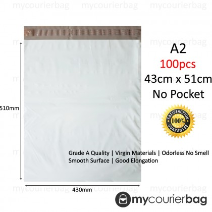 A2 Courier Bag Polymailer Flyer No Pocket (100pcs/pkt)